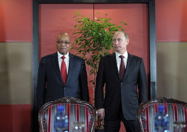 Vladimir Poutine et Jacob Zuma