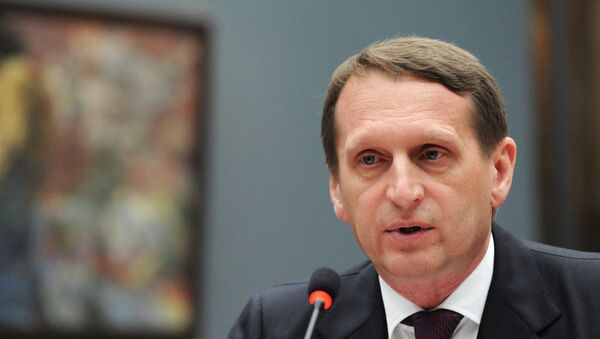 le président de la Douma Sergueï Narychkine - Sputnik France