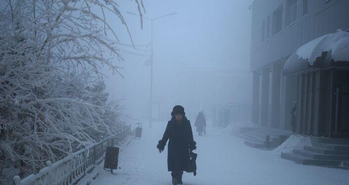 L'hiver à Iakoutsk, nord de la Sibérie orientale