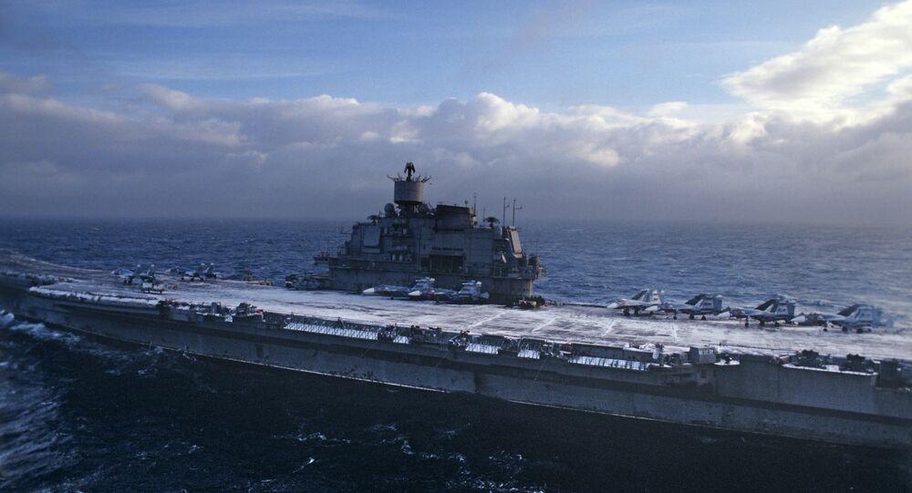 Le porte-avions russe Admiral Kouznetsov