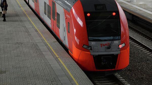 Отправление электропоезда Ласточка в Красную Поляну - Sputnik France