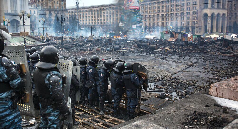 Combattants des forces spéciales de police à Kiev (2014)