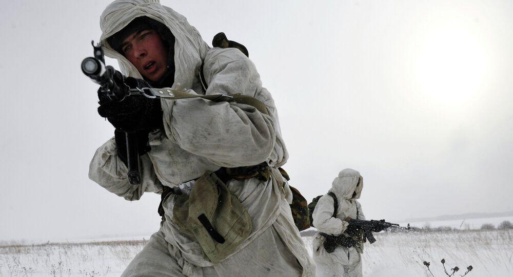 Soldats de la Brigade arctique russe