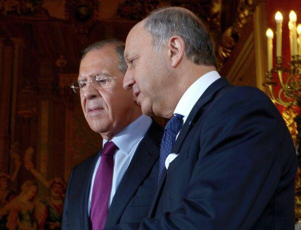 Sergueï Lavrov et Laurent Fabius (archives) - Sputnik France