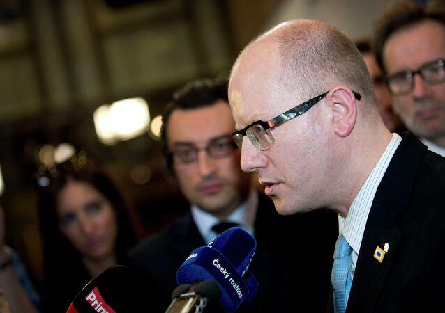 le premier ministre tchèque, Bohuslav Sobotka