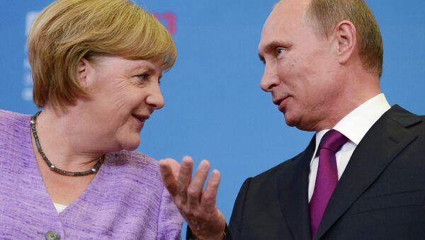 Пресс-конференция В.Путина и А.Меркель - Sputnik France