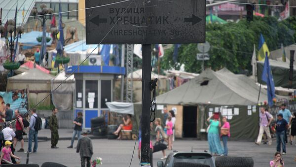 Kiev. Avenue Krechtchatik, artère centrale de la capitale ukrainienne - Sputnik France
