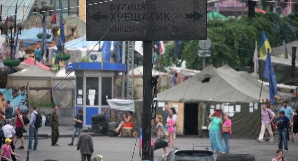 Kiev. Avenue Krechtchatik, artère centrale de la capitale ukrainienne