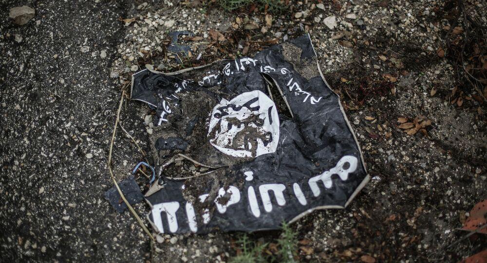 Drapeau de l'organisation djihadiste Etat islamique