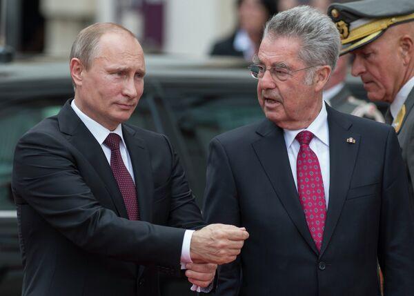 Vladimir Poutine et Heinz Fischer - Sputnik France