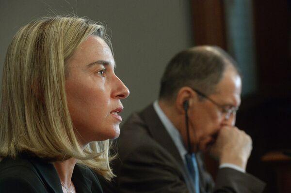 Federica Mogherini et Sergueï Lavrov. (Archives) - Sputnik France