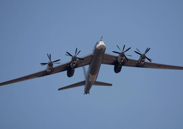 Un bombardier stratégique russe Tu-95MS