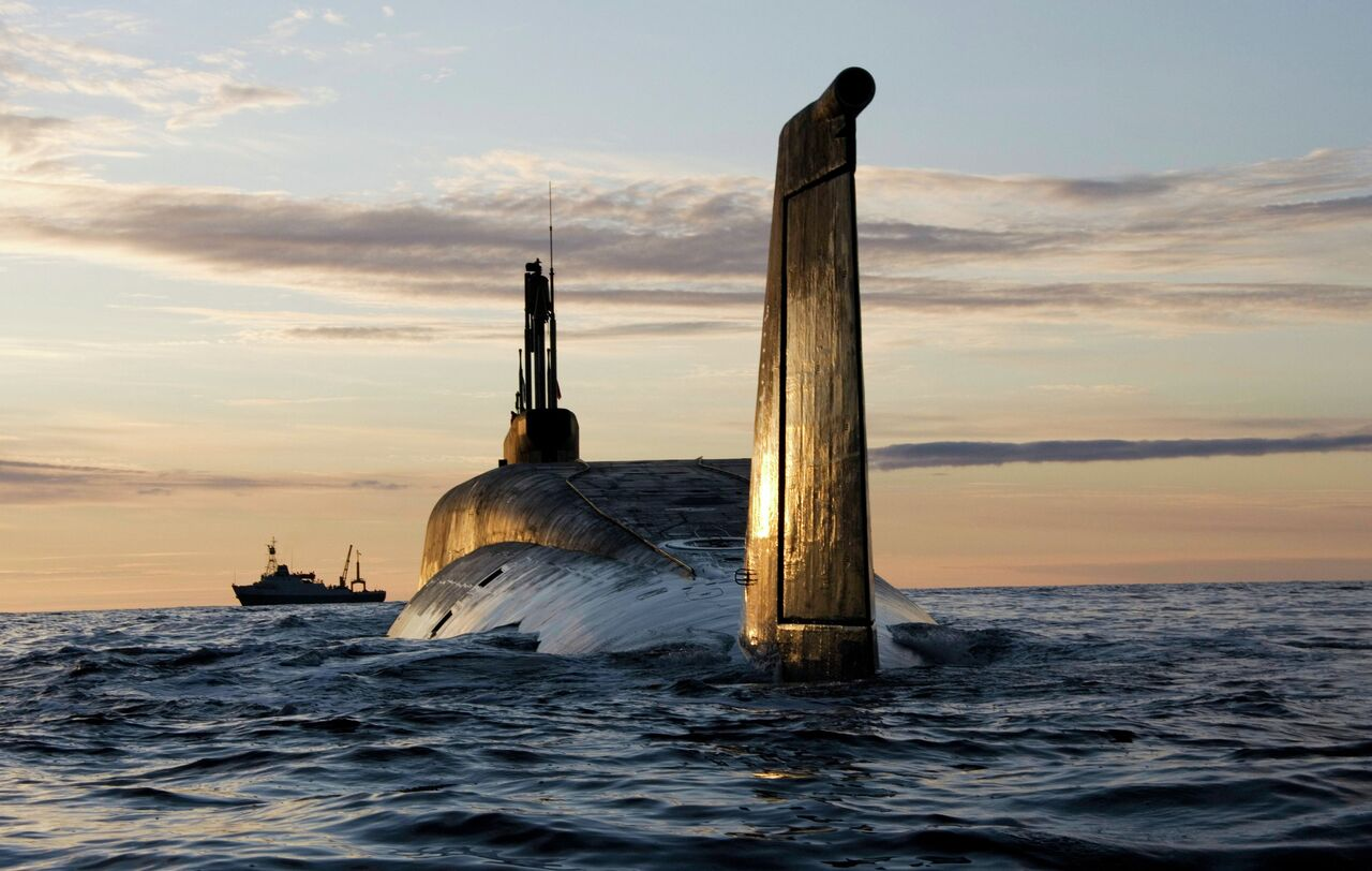 Le sous-marin stratégique à propulsion nucléaire K-535 Iouri Dolgorouki