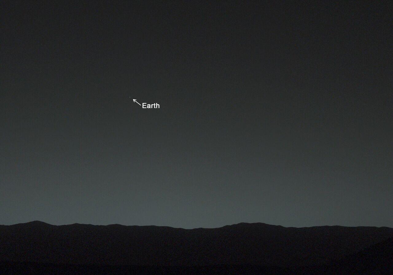 Une photo de la Terre prise par le robot Curiosity depuis Mars