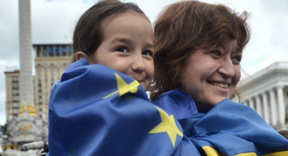 Ukraine célèbre la Journée de l'Europe. Archive photo
