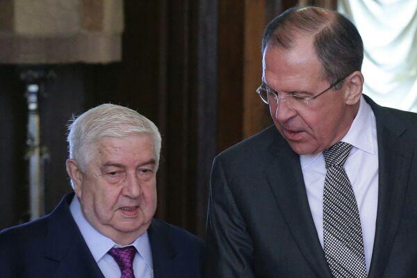 Walid Mouallem et Sergueï Lavrov (Archives) - Sputnik France