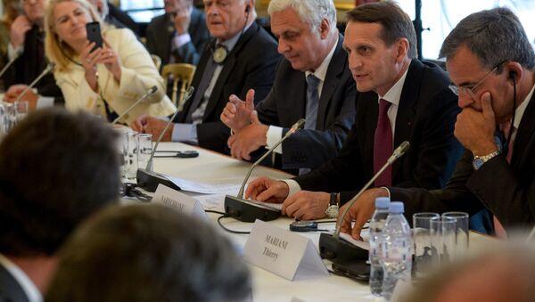 Sergueï Narychkine, président de la Douma, en visite à Paris - Sputnik France