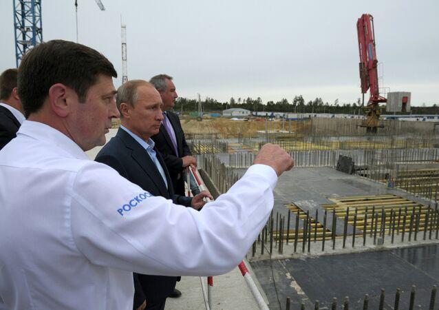 Le Président Poutine visite le cosmodrome Vostochny