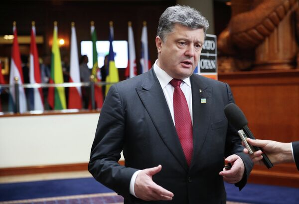 Piotr Porochenko, président de l'Ukraine, au sommet de l'Otan - Sputnik France