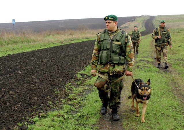 Les gardes-frontières ukrainiens