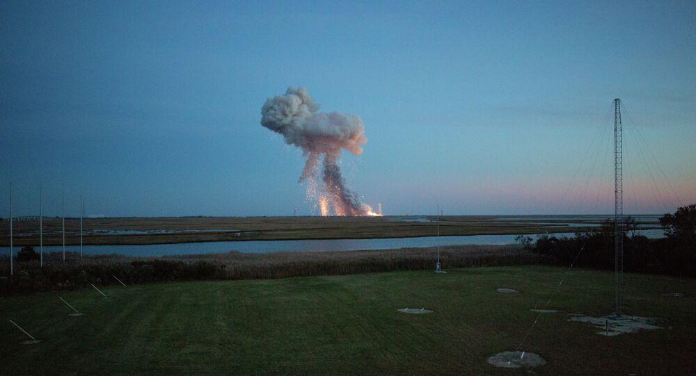 Explosion d'une fusée Antares, le 29 octobre 2014