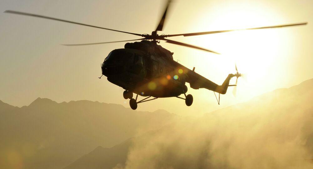 Un hélicoptères Mi-17 en Afghanistan
