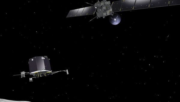 Зонд Rosetta развертывает посадочный модуль Philae на комете - Sputnik France