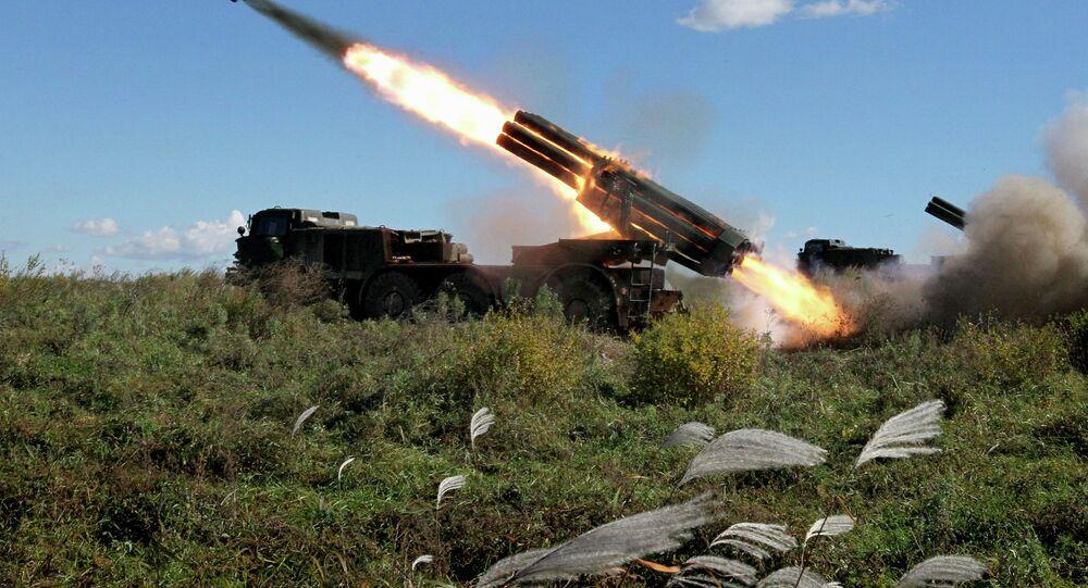 Учения артиллерийских подразделений армии в Приморском крае