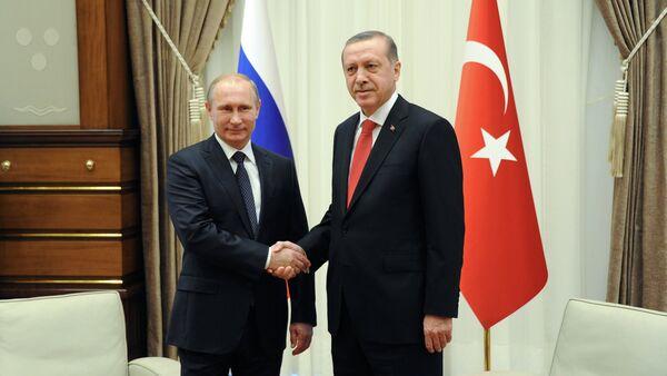 Vladimir Poutine et Recep Tayyip Erdoğan - Sputnik France