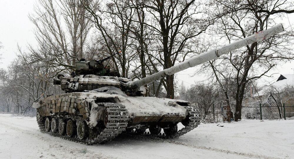Un char ukrainien près de Donetsk (Arhives)