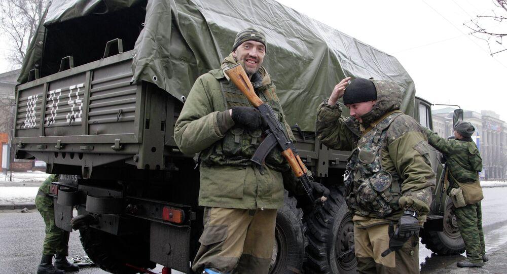 Les insurgés à Donetsk